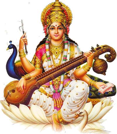 Saraswathi Devi - Godess Of Fine-Arts U0026 Knowledge PlusPng.com  - Saraswati HD PNG
