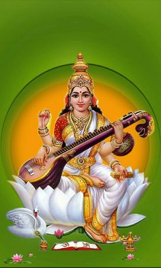 Saraswati Puja MantraFamous Hindu Temples And Tourist Places In India - Saraswati HD PNG