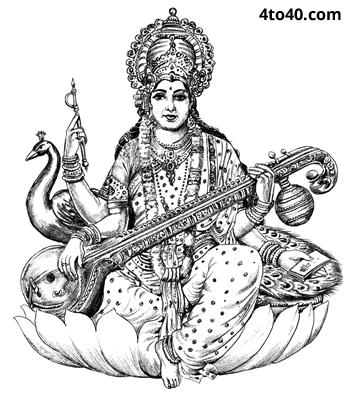 Maa Saraswati - Saraswati Maa PNG