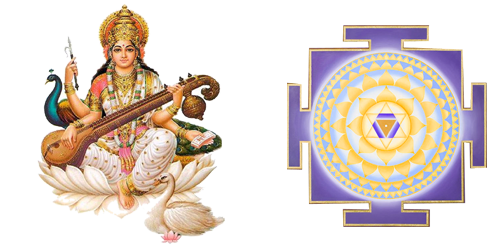 Saraswati Yantra - Saraswati Maa PNG