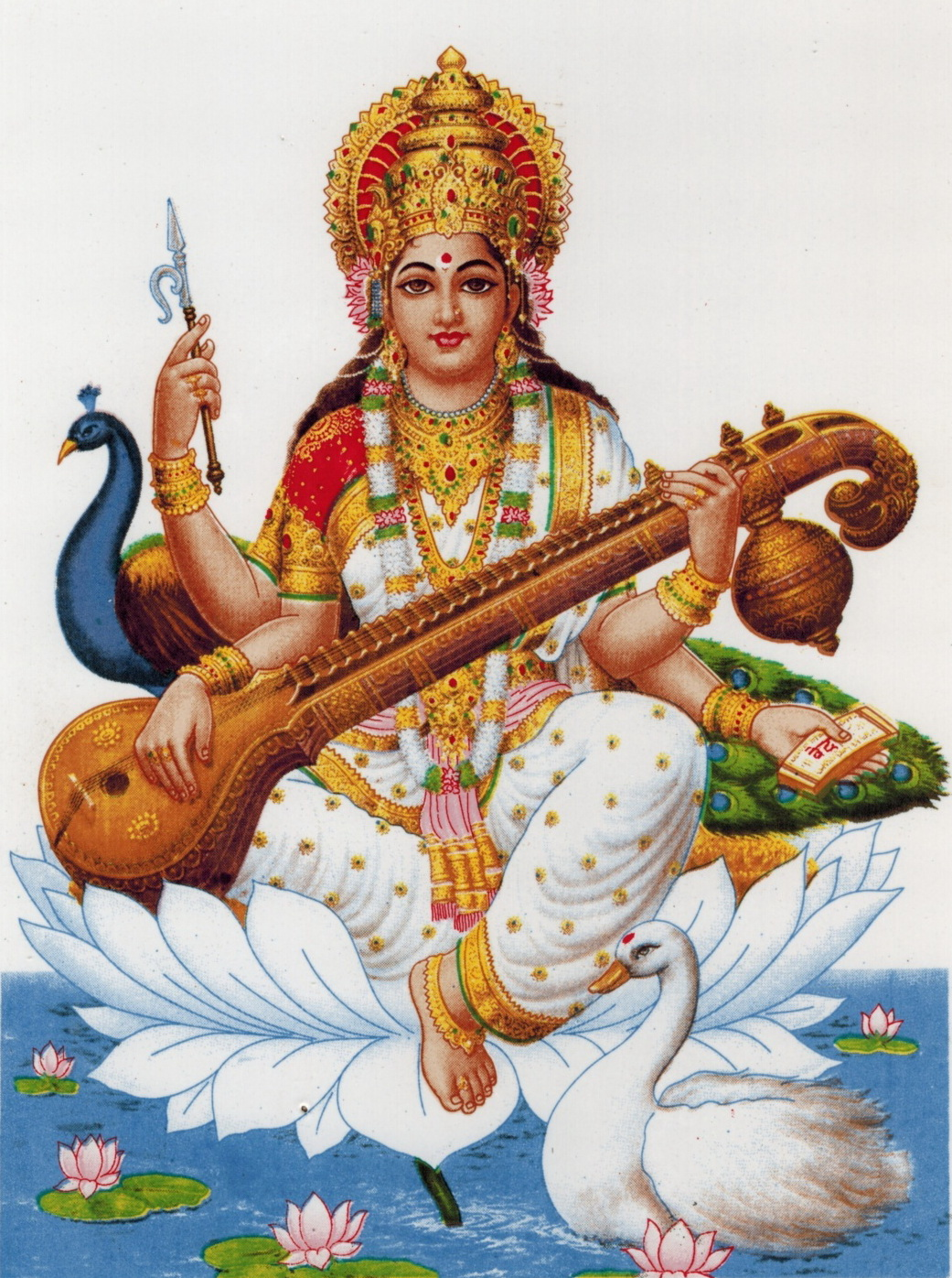 Saraswati Mata PNG-PlusPNG.com-1041 - Saraswati Mata PNG