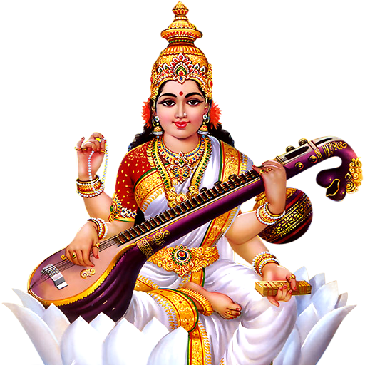 In picture: Mother goddesses Saraswati - Saraswati Mata PNG