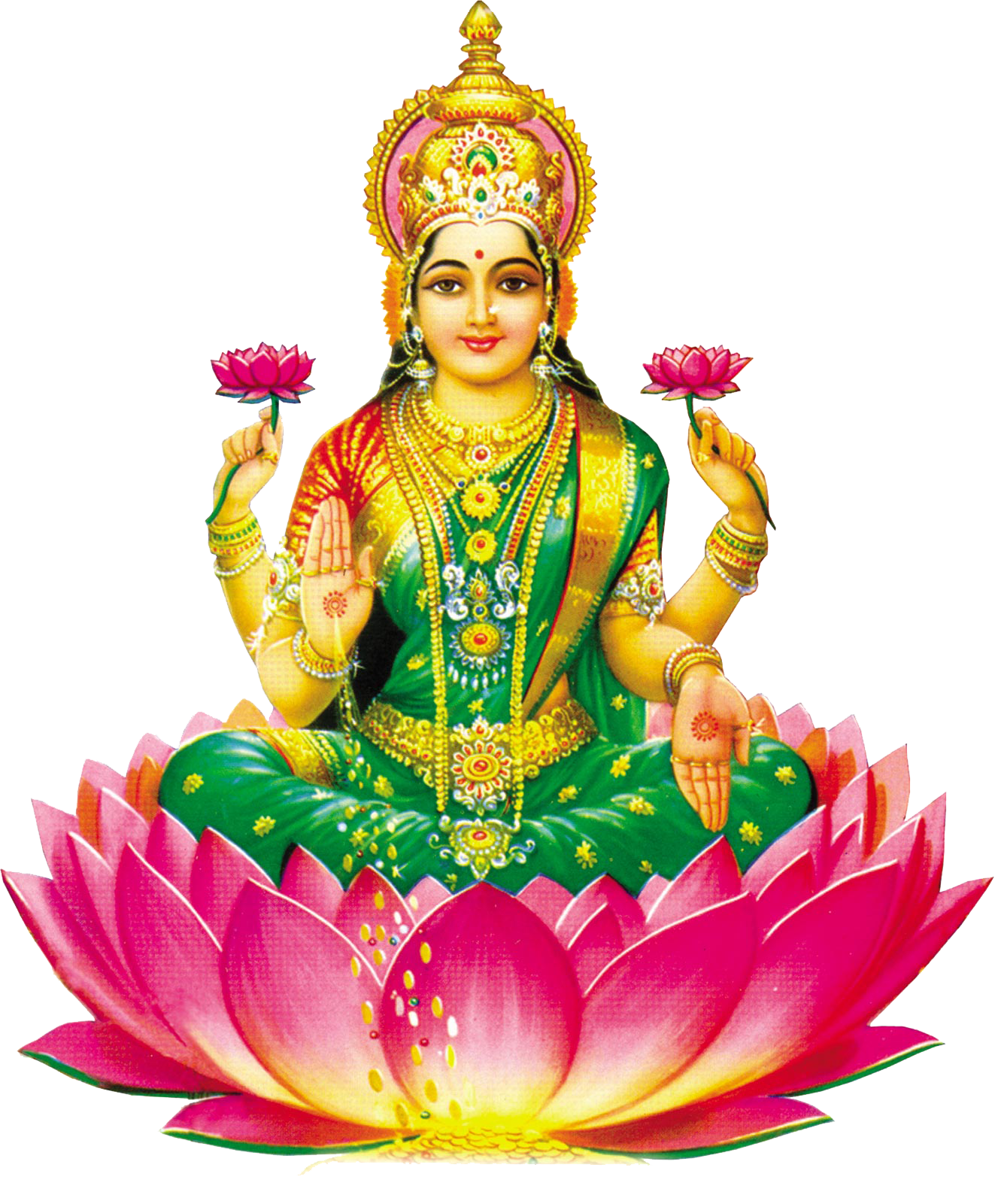 Lakshmi - Saraswati Mata PNG
