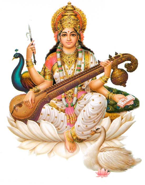 Saraswati - Saraswati Mata PNG
