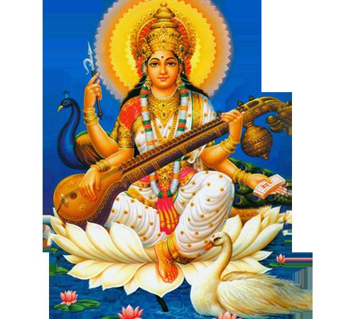 Saraswati Mata PNG-PlusPNG.co
