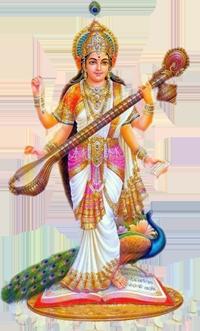 Saraswati-PNG-Clipart - Saraswati Mata PNG
