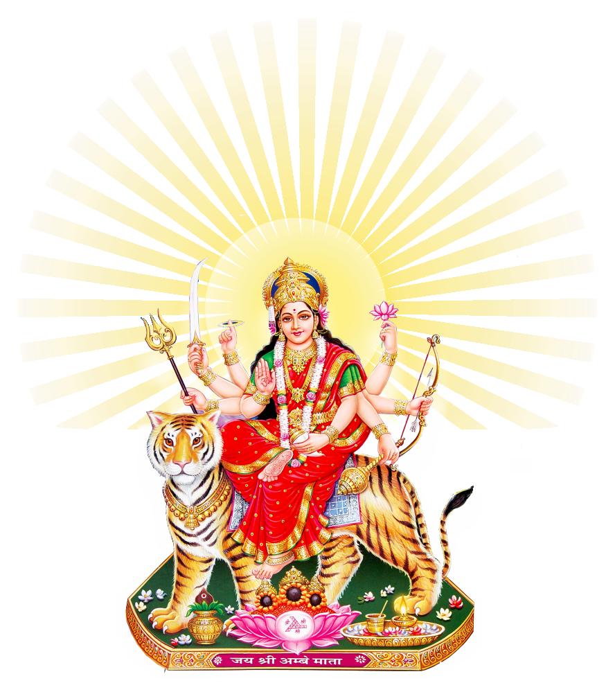 Goddess Durga Maa Png PNG Image - Saraswati PNG