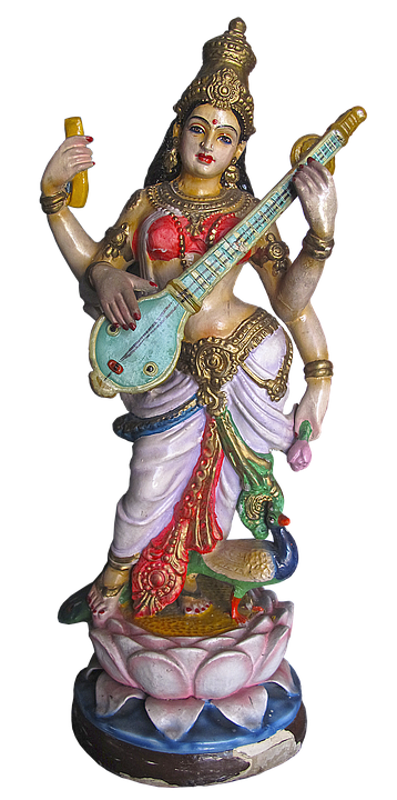şekil heykel saraswati tanrıça ilah hinduizm - Saraswati PNG HD