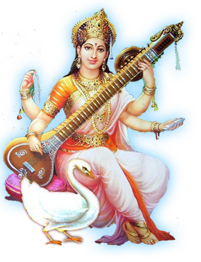 . PlusPng.com saraswati awahan day; made in india all rights reserved  saraswatiaaradhna in crafted by . - Saraswati PNG