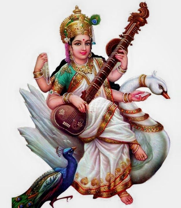 Spiritual Photos: Painting of Maa Saraswati - Saraswati PNG