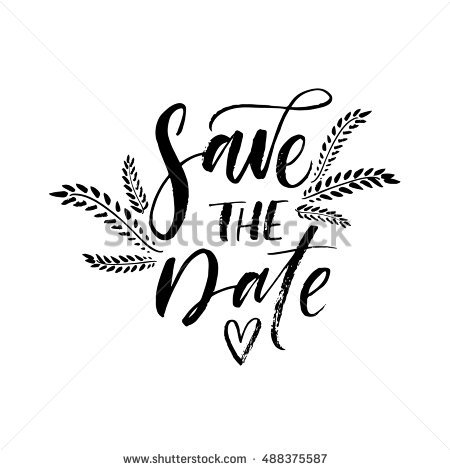 Save The Date PNG Black And White - 87740