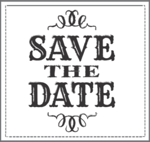Save The Date PNG Black And White - 87737
