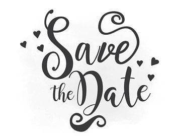 Save The Date PNG Black And White - 87746