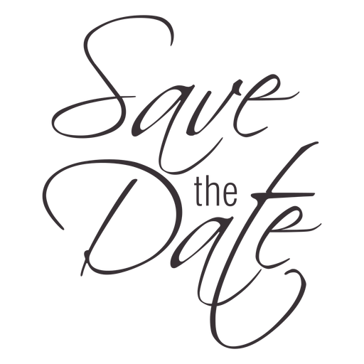 Save The Date PNG Black And White - 87736