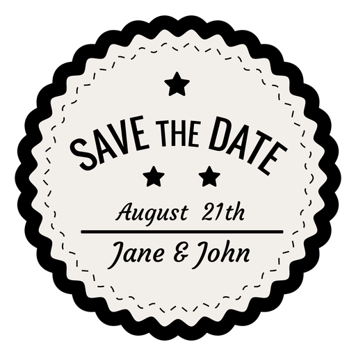 Save The Date PNG Black And White - 87750