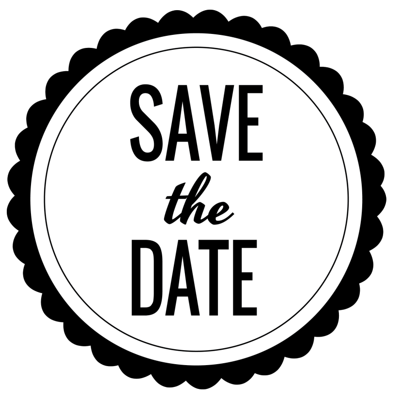 Save The Date PNG Black And White - 87747