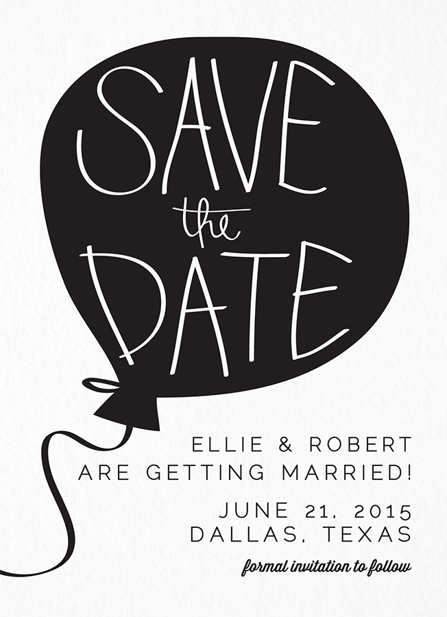 Balloon Save the date - Save The Date PNG HD