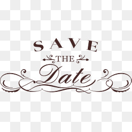 Save The Date PNG HD - 125438