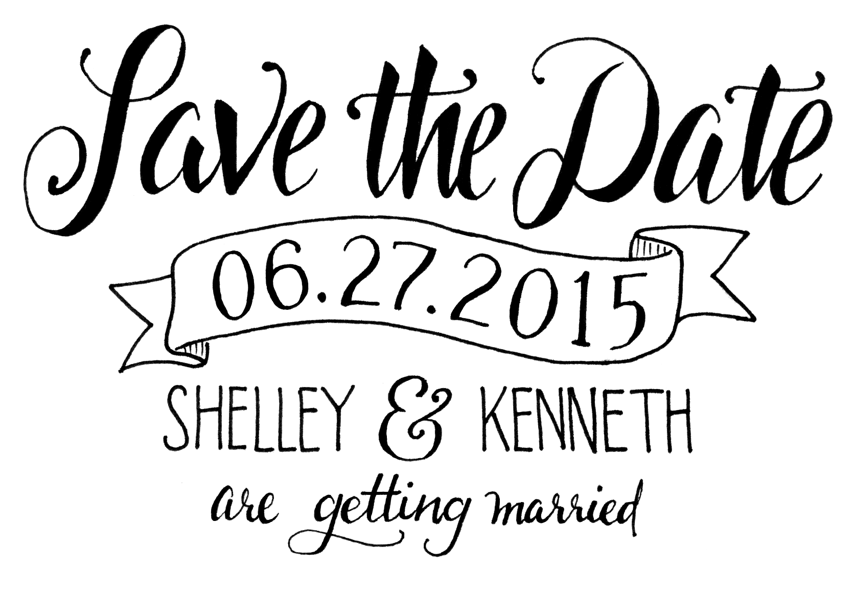 Having fun with the idea of hand lettering my save the date. CC welcome! - Save The Date PNG HD