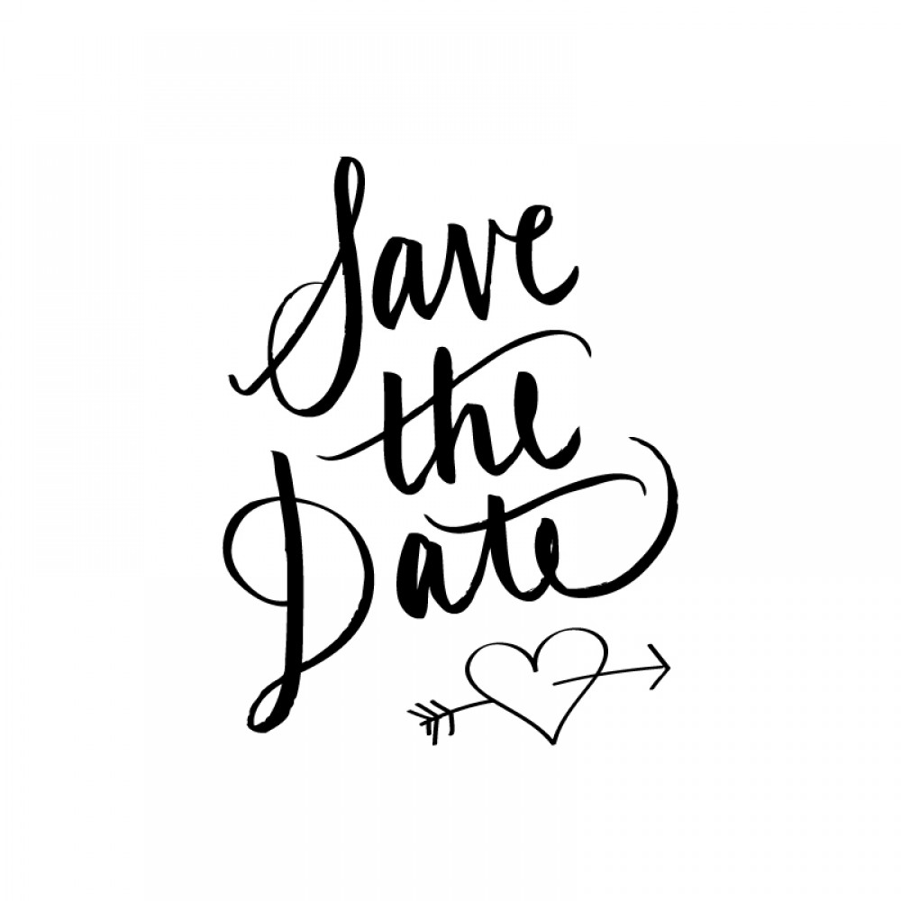 Save the Date Calligraphy Rubber Stamp - Save The Date PNG HD