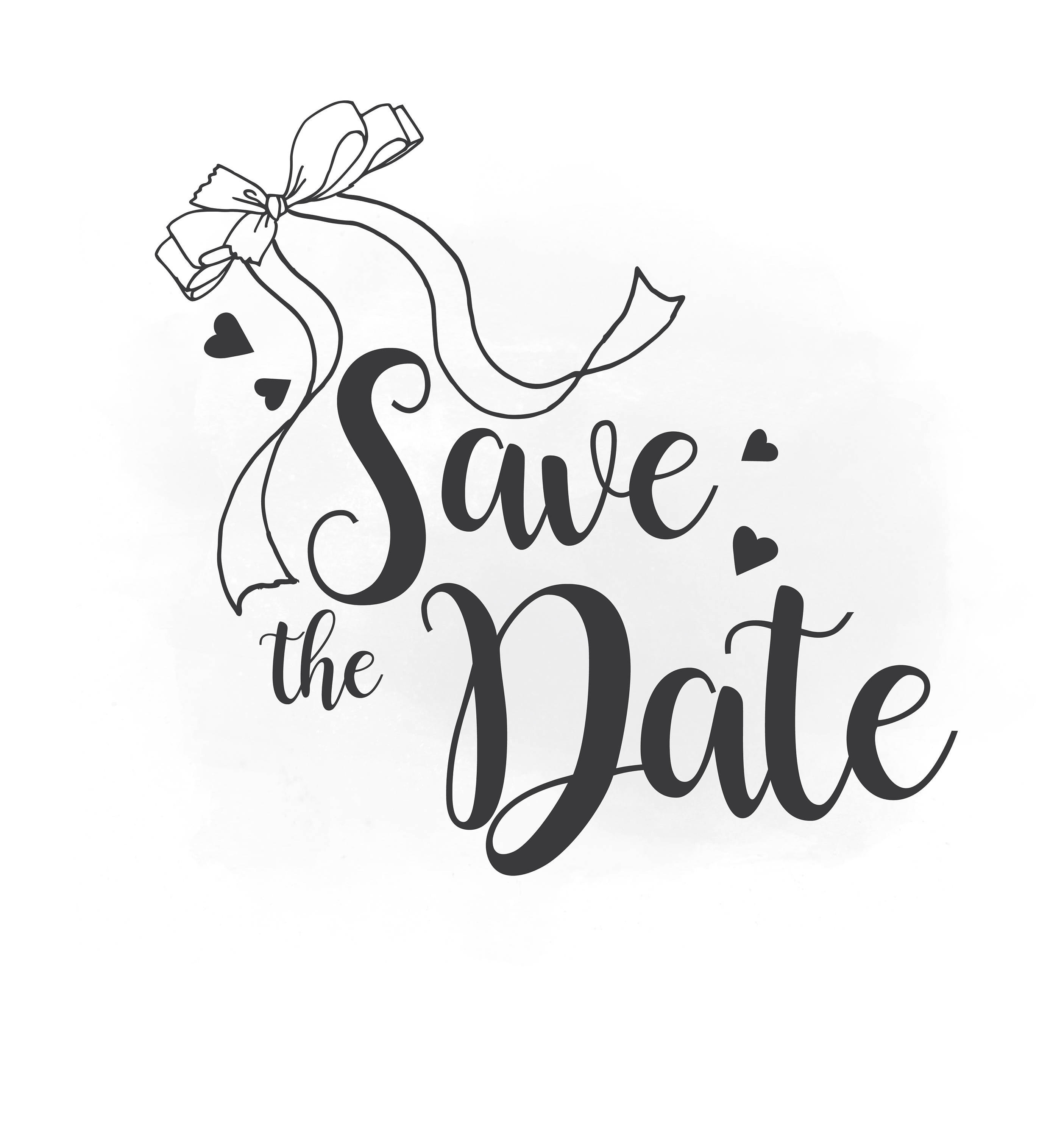 This is a digital file - Save The Date PNG HD