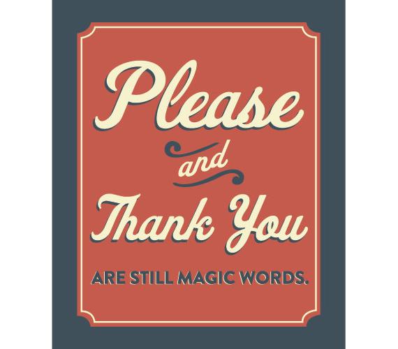 Please And Thank You - Say Please And Thank You PNG