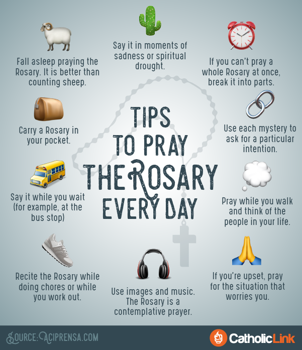 10 Simple Tips to Help You Pray the Rosary Every Day | ChurchPOP - Say Prayers PNG