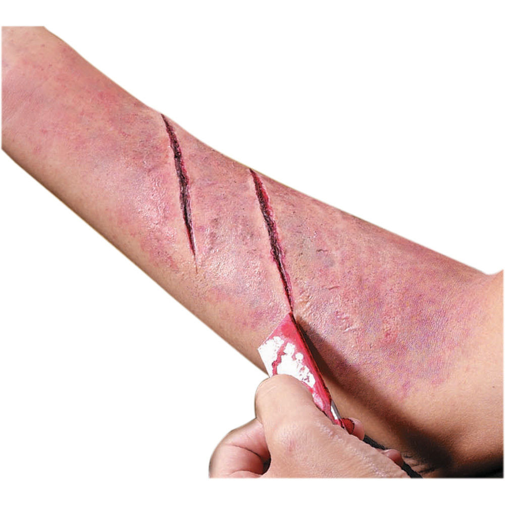 FAKE CUT WOUND SCAR PROSTHETIC SPECIAL EFFECT BLOOD PROP LATEX FX CRUEL  REEL | eBay - Scar Wound PNG