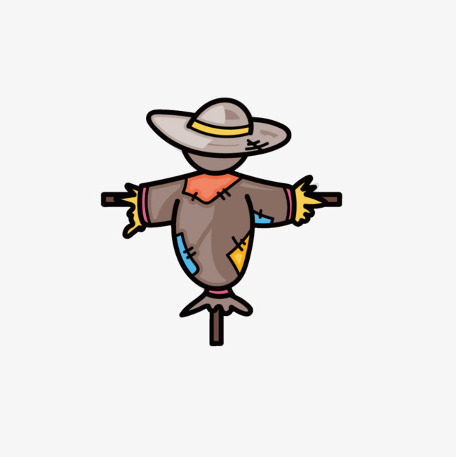 Lonely Scarecrow, Scarecrow, Old, Cartoon Scarecrow Free PNG Image - Scarecrow PNG Free