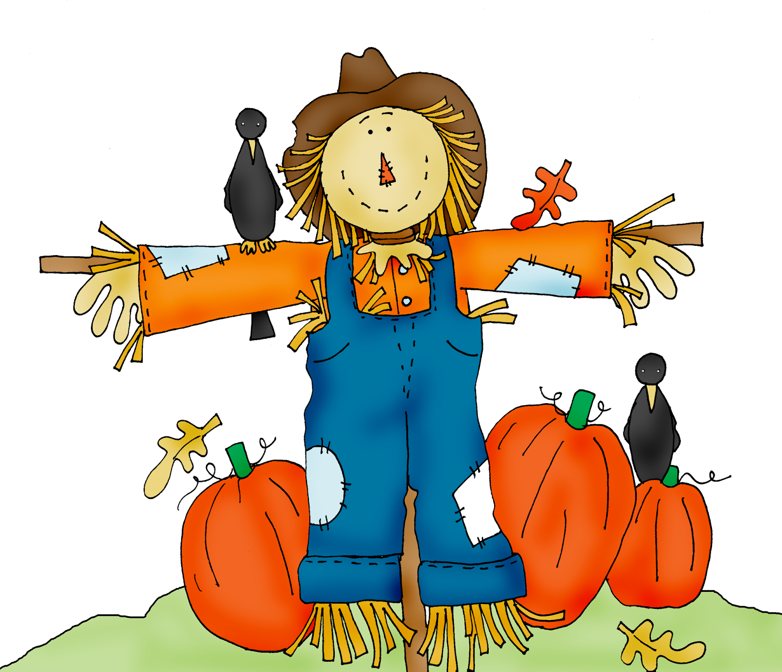 Scarecrow Free Halloween Pumpkin Patch Clipart - Scarecrow PNG Free