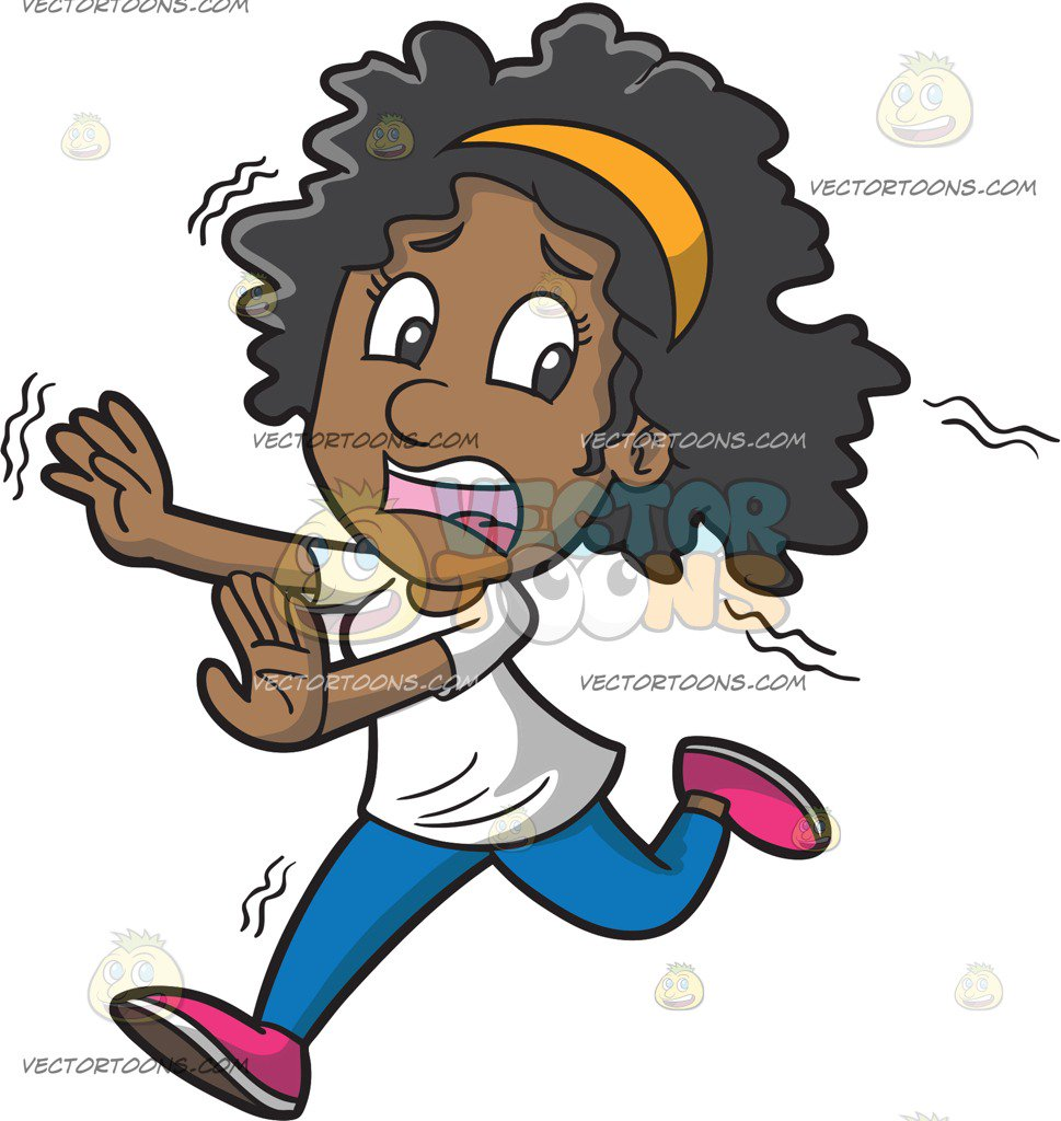 Scared Woman Running Screaming PNG - 165059