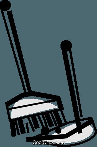 Besen und Kehrschaufeln Vektor Clipart Bild - Schaufel Und Besen PNG