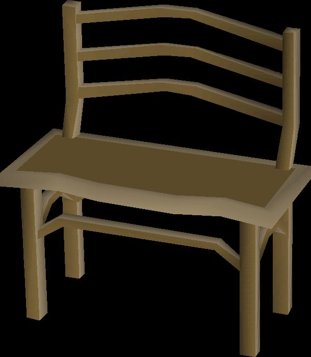 Teak Bench Built.png - School Bench PNG