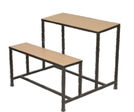 Two Seater School Bench - School Bench PNG