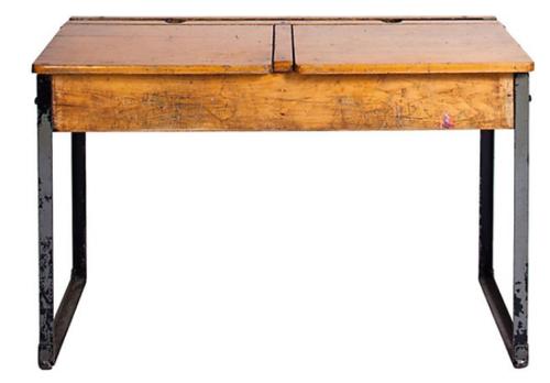 Welsh School Desk - School Bench PNG