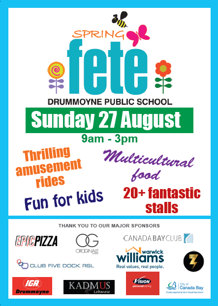 The Drummoyne Public School Spring Fete will offer over 20 stalls,  multicultural food and lots of fun for the whole family! - School Fete PNG