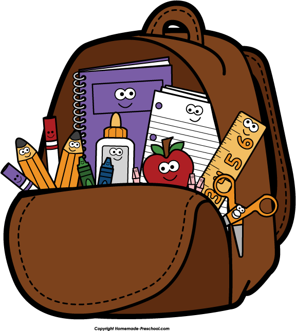 School full backpack clipart - School Related PNG Free