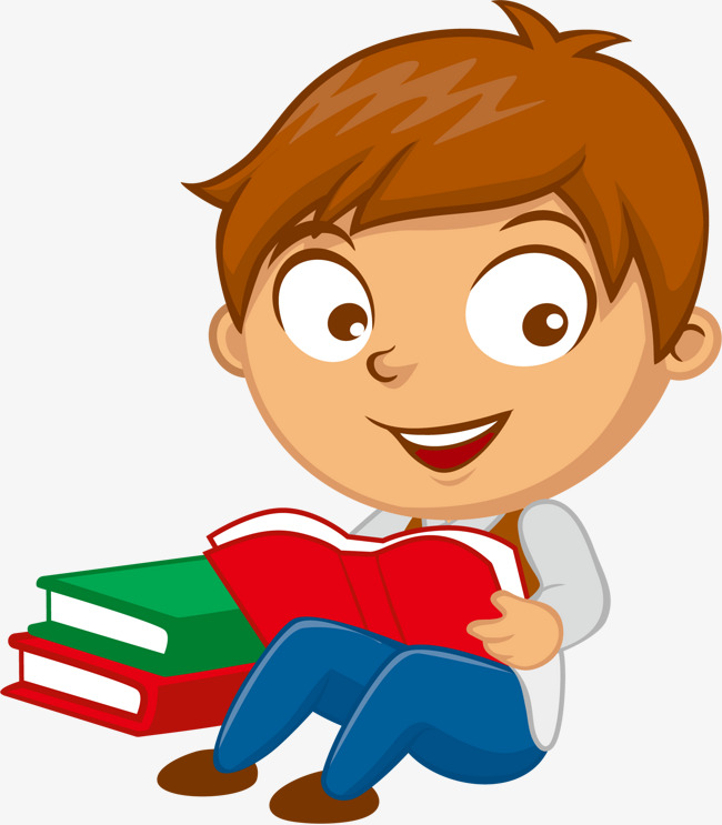 vector reading school boy, Vector, Read, Reading PNG and Vector - School Related PNG Free