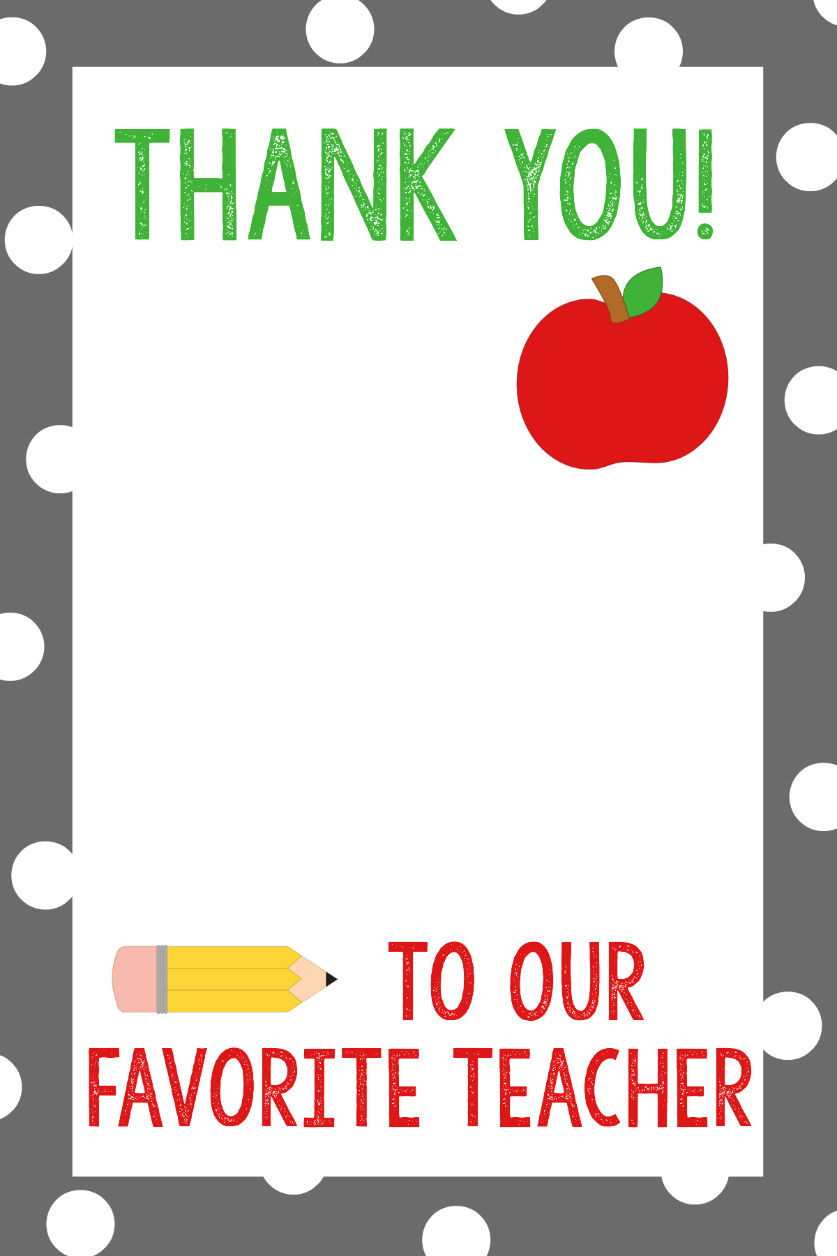Thank You Gift For Teacher - School Staff Appreciation PNG
