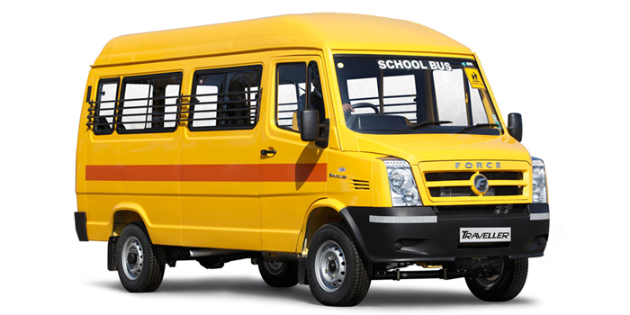 Traveller School Bus 3350 - School Van PNG
