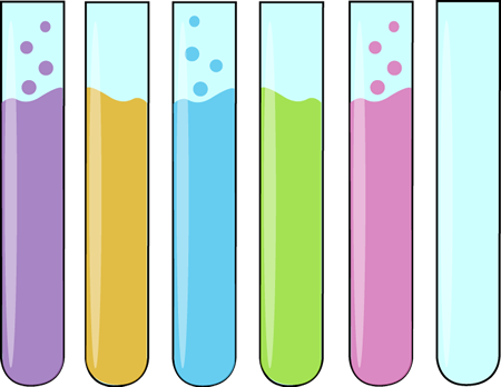Row of Science Test Tubes - Science Test Tubes PNG