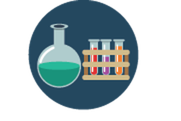 Science Icons - Yellow and Blue - Flask and Test Tubes | Clipart - Science Test Tubes PNG