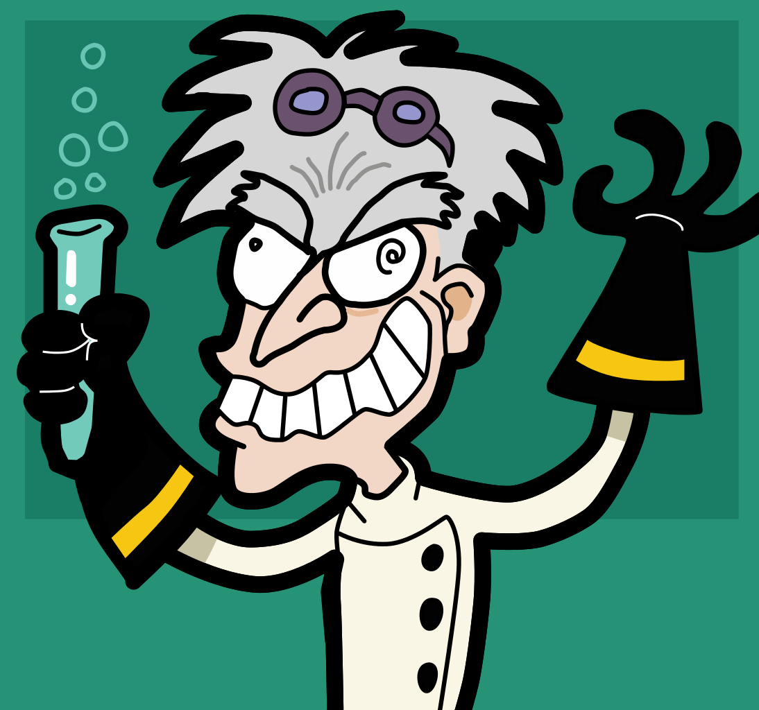 File:Mad scientist.svg - Scientist HD PNG