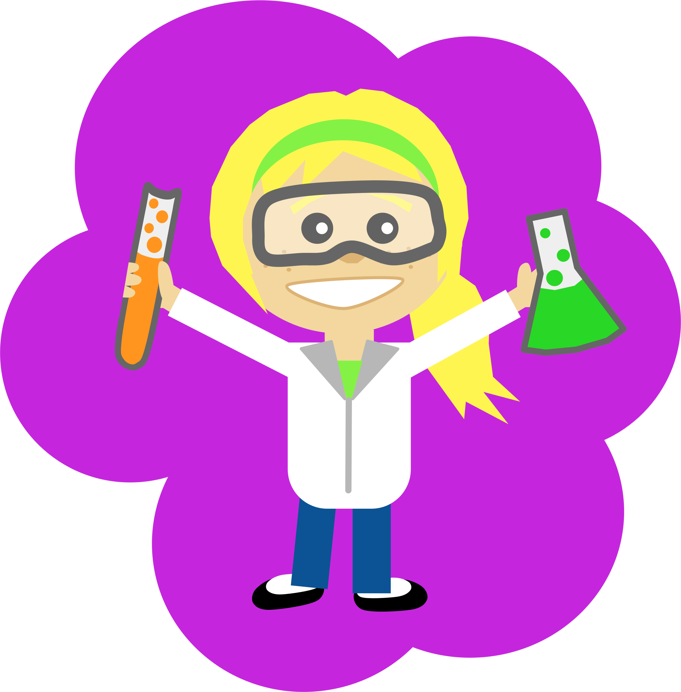 File:Science-girl-with-ponytail.png - Scientist HD PNG