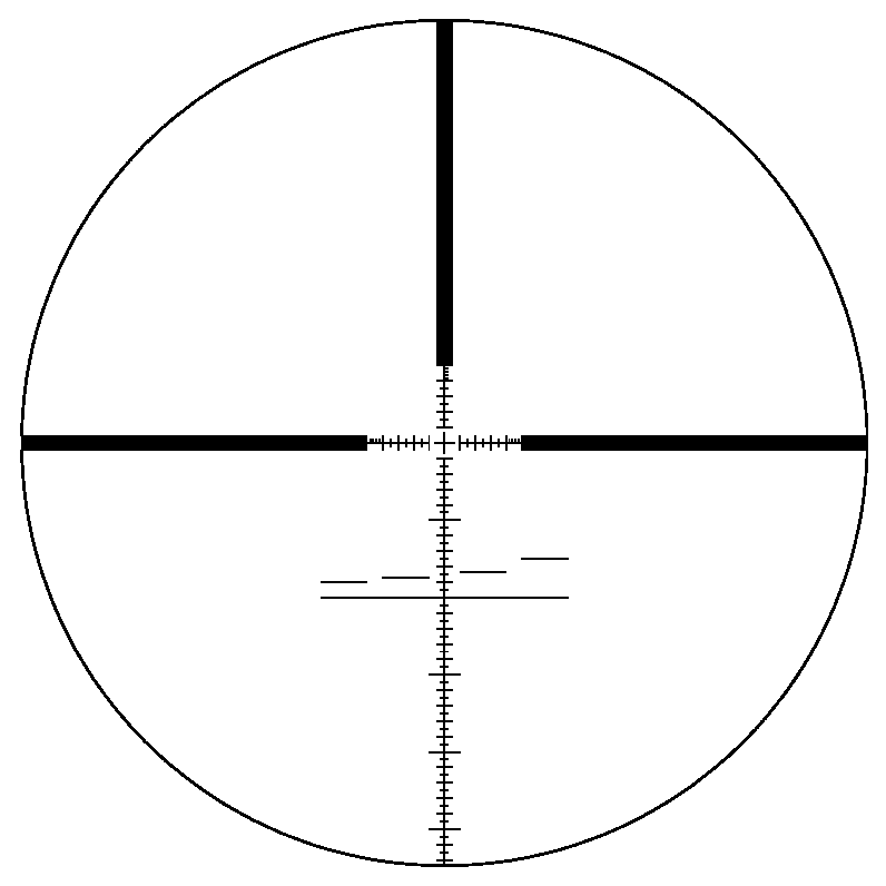File:Su0026B P4 reticle at 5x zoom.png - Scope HD PNG