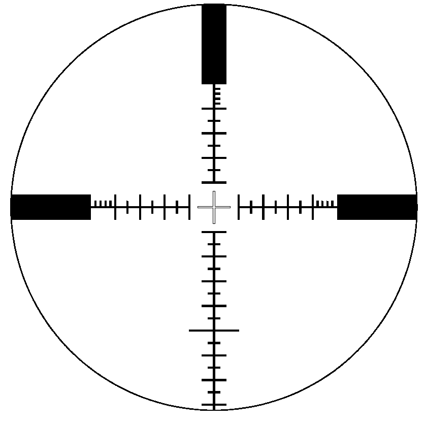 Su0026B P4 reticle at 25x zoom.png - Scope HD PNG