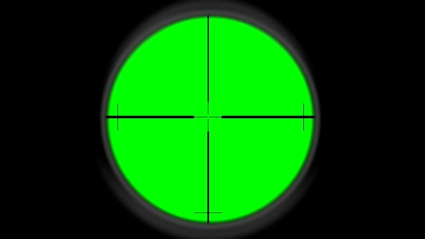 Sniper scope - greenscreen - HD stock footage clip - Scope HD PNG