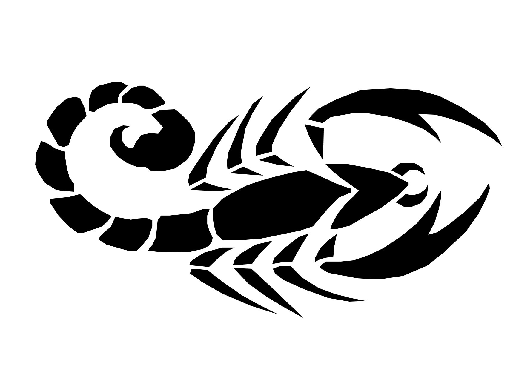 New Tribal Scorpion Tattoo photo - 2 - Scorpion Tattoos PNG - Scorpion HD PNG