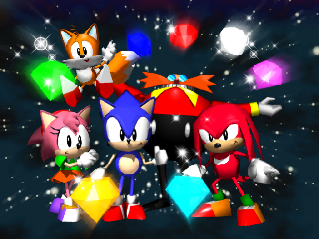 File:Sonic R - Ending Screen.png - Screen Bean Characters PNG