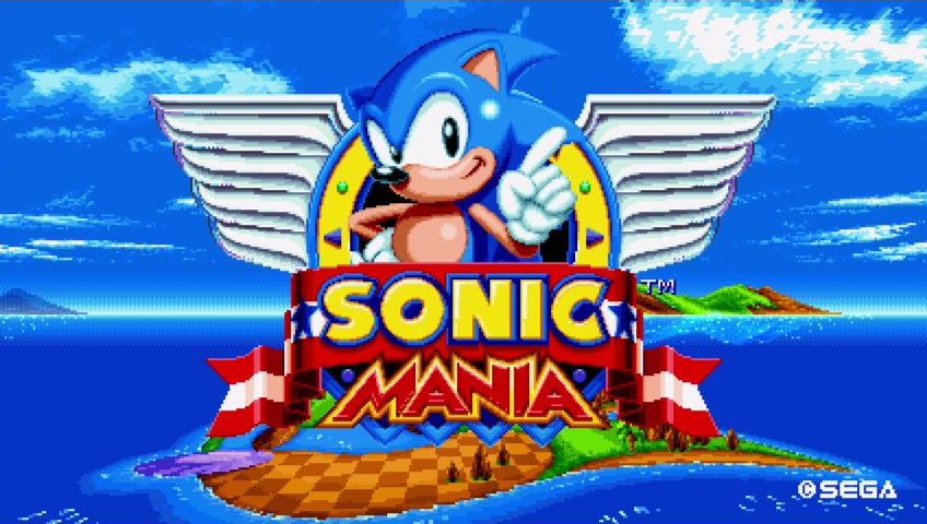Sonic-Mania-Title-Screen.png - Screen Bean Characters PNG